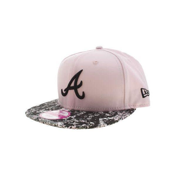 New Era Black Silver Atlanta Splattered 9fifty Caps And Hats Black Silver Silver Hats Silver
