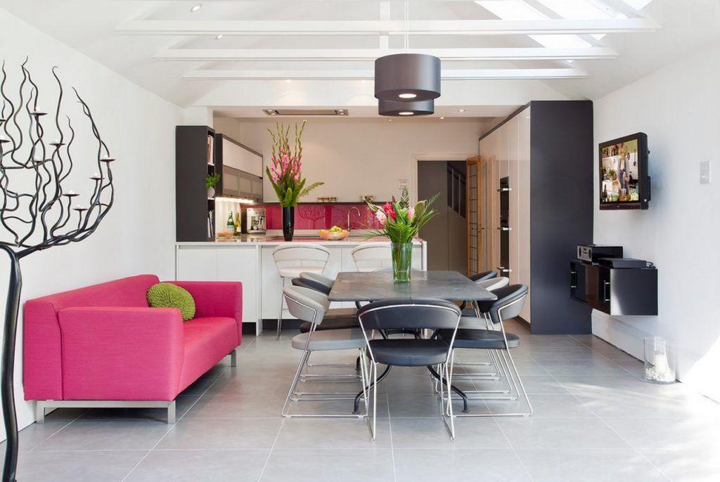 Living Room Sofa Matches Kitchen Backsplash