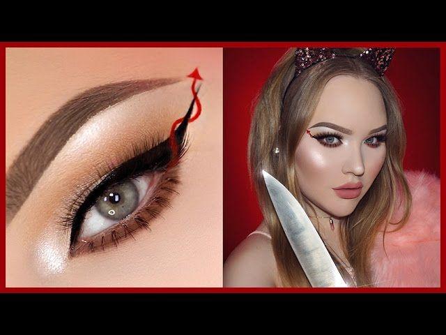 SCREAM QUEENS Red Devil Eyeliner - HALLOWEEN Makeup Tutorial ...