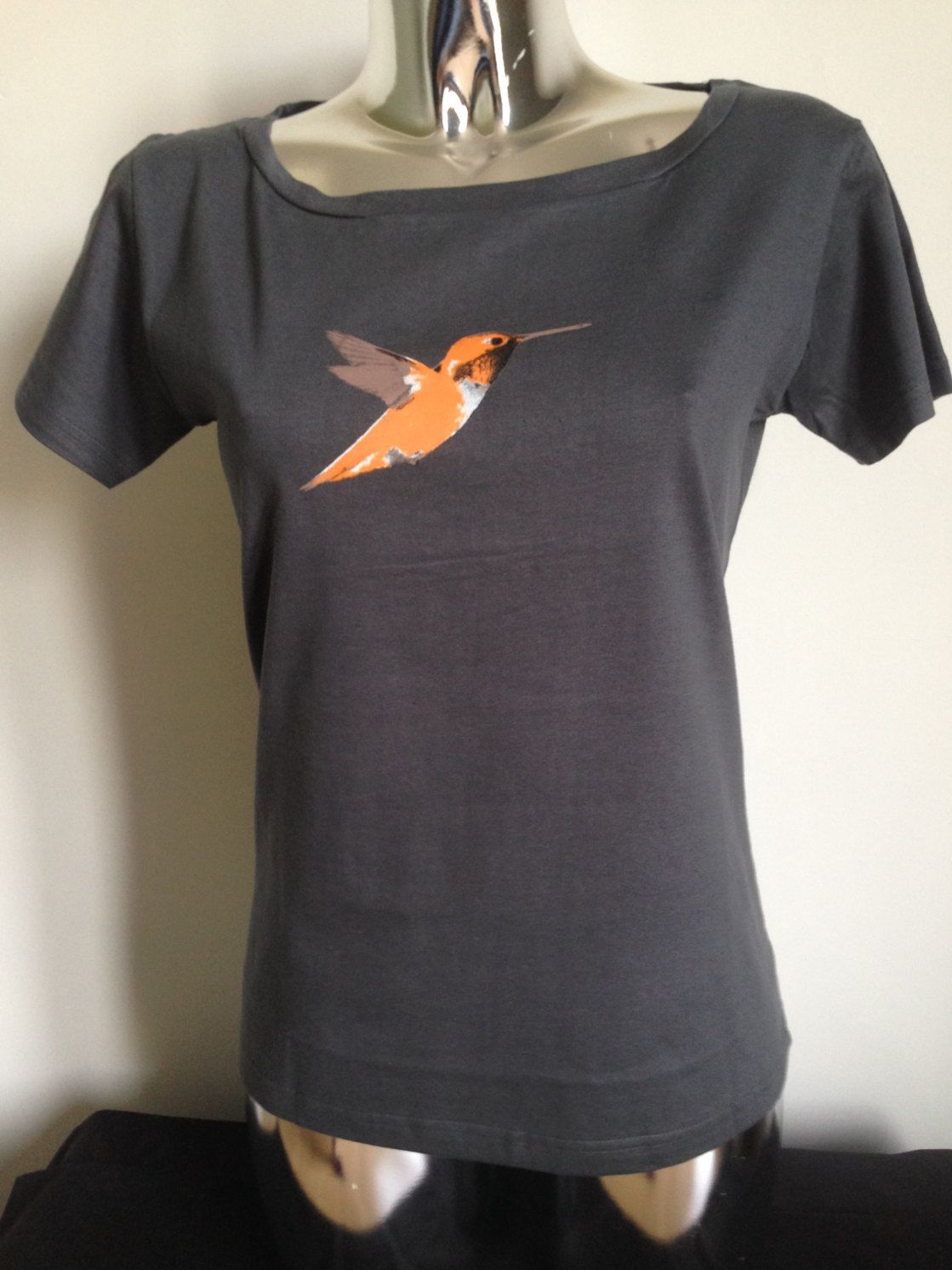 Hummingbird Women's Tshirt Black, Grey Colours Ladies