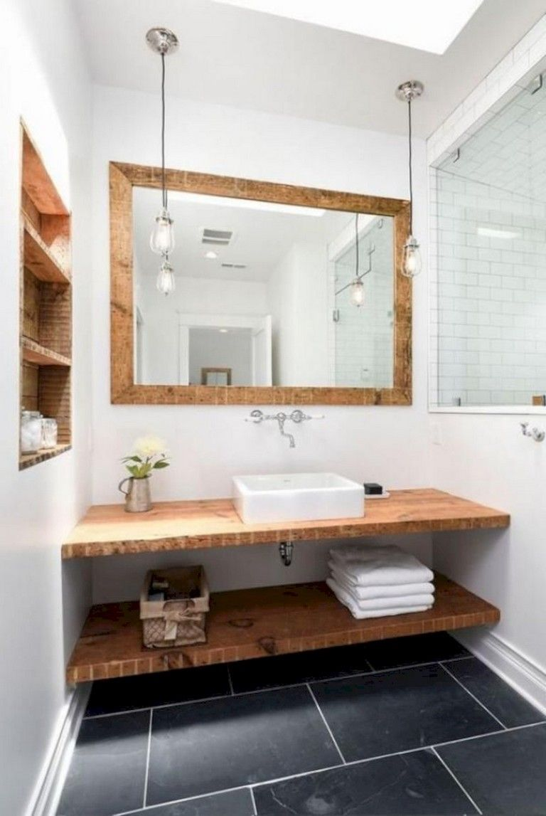 40+ Awesome Modern Rustic Bathroom Ideas #rusticbathrooms