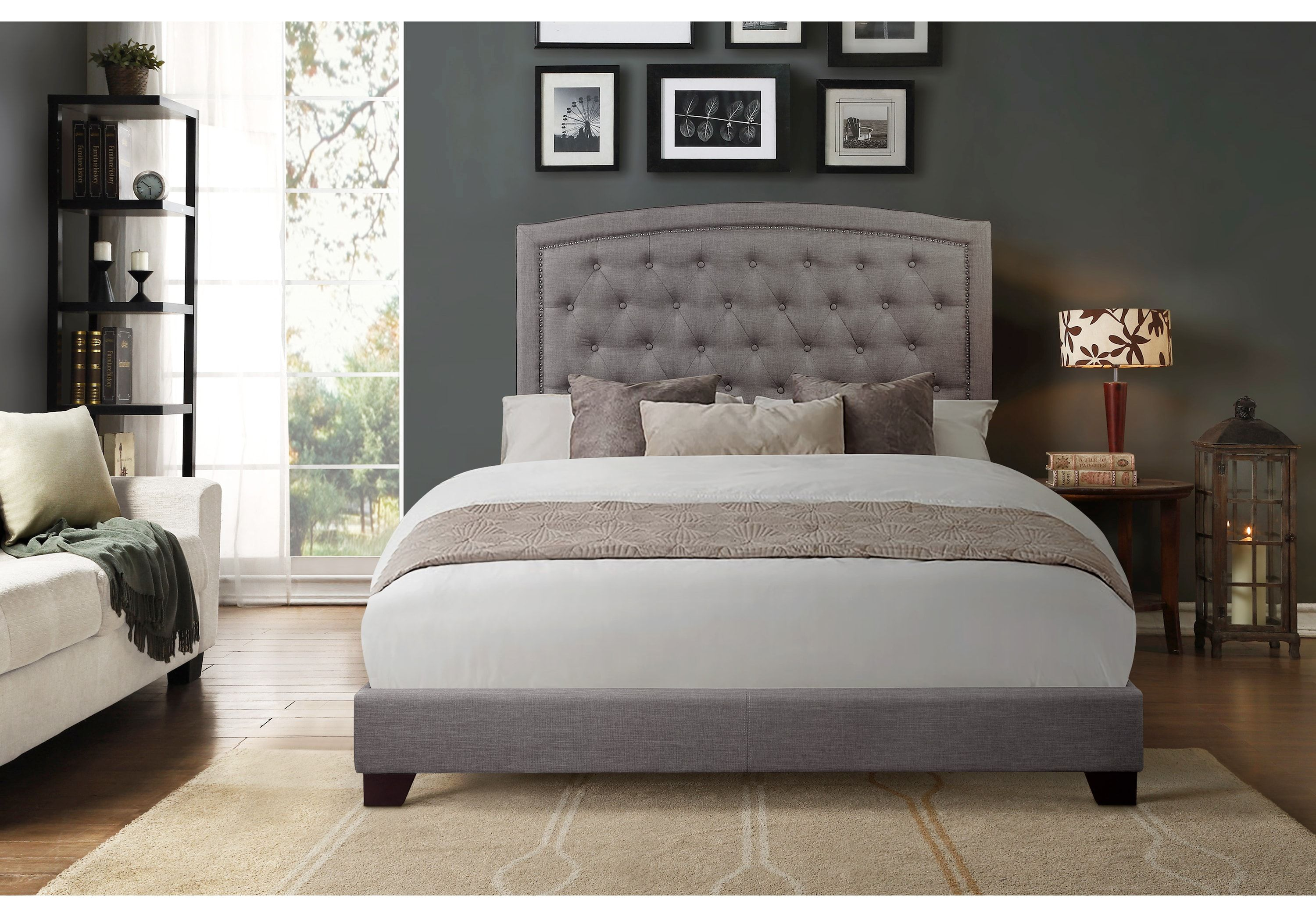 Juneberry Gray King Upholstered Bed King Upholstered Bed Queen Upholstered Bed Upholstered Beds