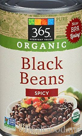 365 everyday value organic black beans spicy 15 ounce