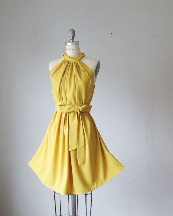 Yellow Vintage Bridesmaid Dress