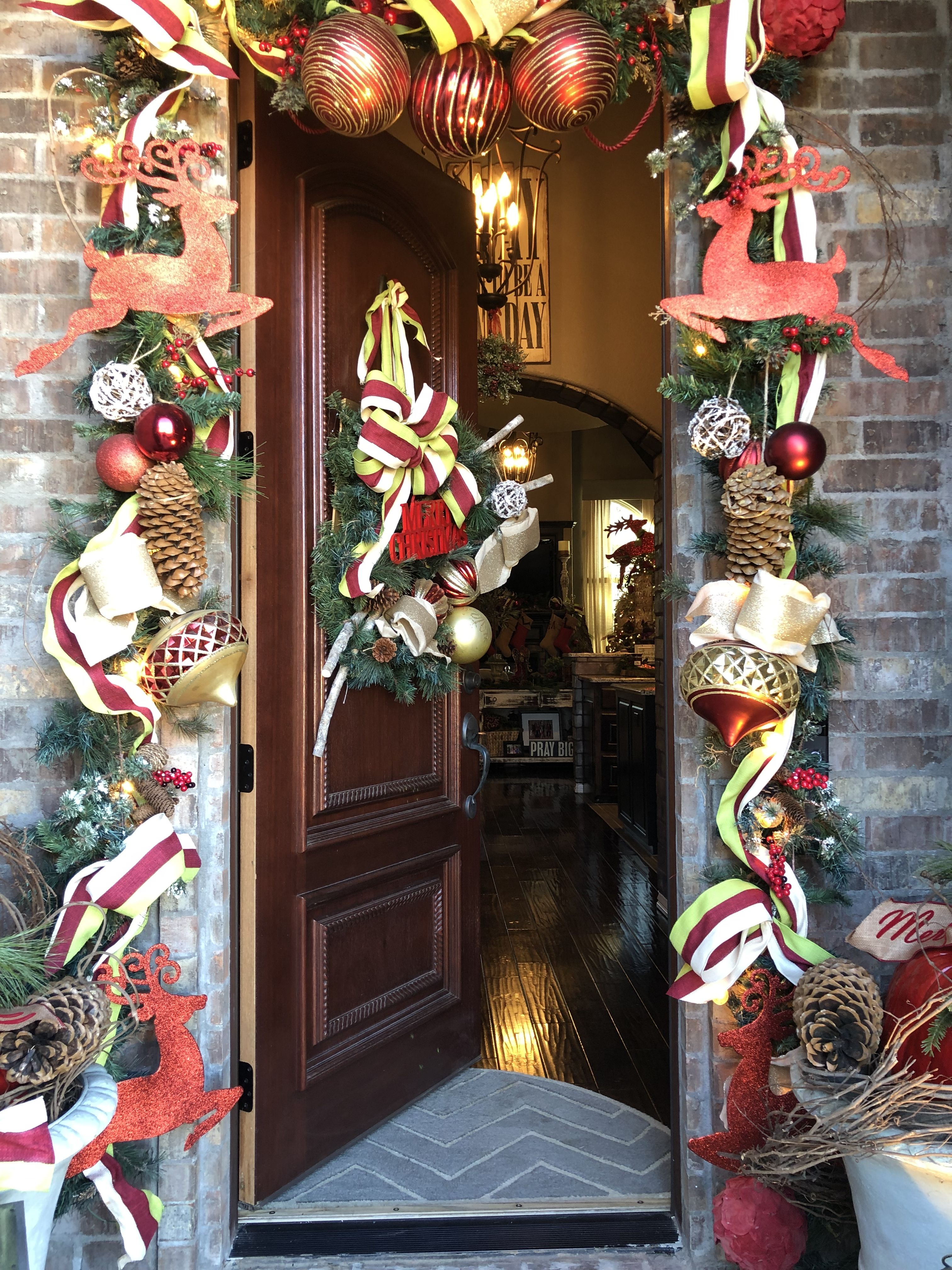 Christmas Front Door southernstonehouse Christmas front
