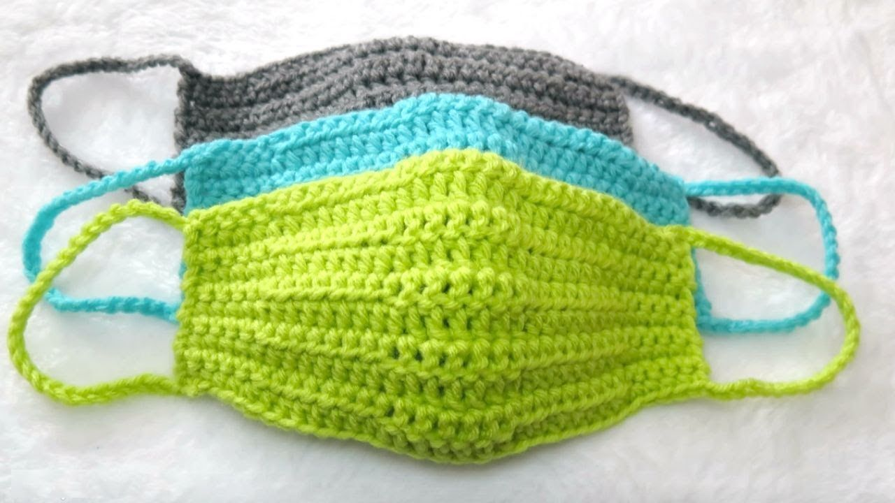 How to Crochet a Quick and Easy Face Mask, Face Warmer