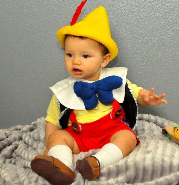 Pinocchio inspired costume babies boys toddler by zorraindina - trajes de halloween para bebes
