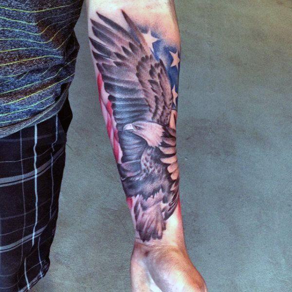 71d86cfbd 90 Patriotic Tattoos For Men - Nationalistic Pride Design Ideas ...