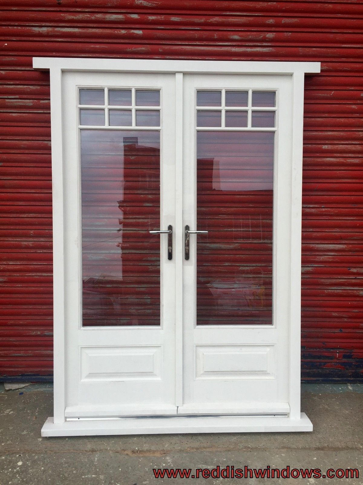 Hardwood Timber French Doors With Astragal Glazing Bars Bespoke Made
