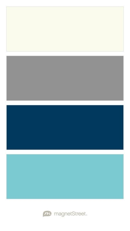 Ivory classic gray navy and turquoise wedding color - Navy blue and turquoise living room ...