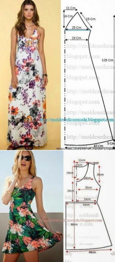 Выкройки летних платьев! — HandMade   patrones   Pinterest   Vestido ...