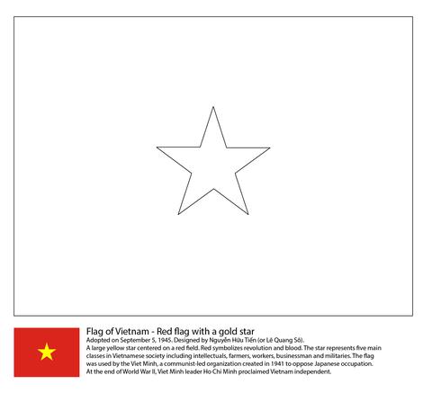 Flag Of Vietnam Coloring Page Free Printable Coloring Pages Coloring Pages Flag Coloring Pages Flag Printable