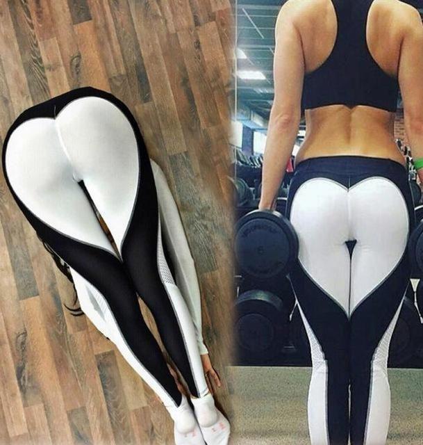 d511b94b1b Ladies Stylish Gym Wear Yoga Pants Love Design Leggings Workout Tights For Women  Heart Booty Pants