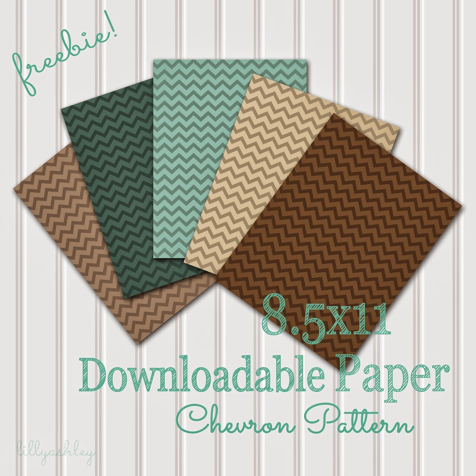 Chevron Downloadable Paper - bjl