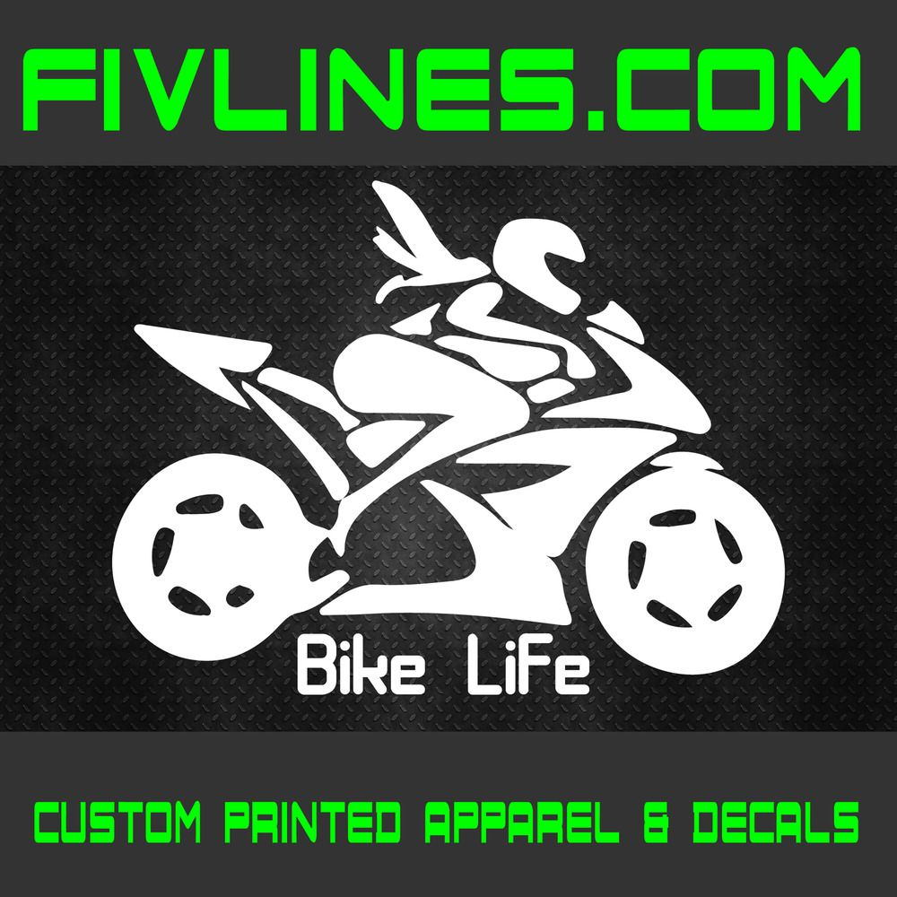 Details About Girl Bike Life Decal Sticker Motorcycle Decals