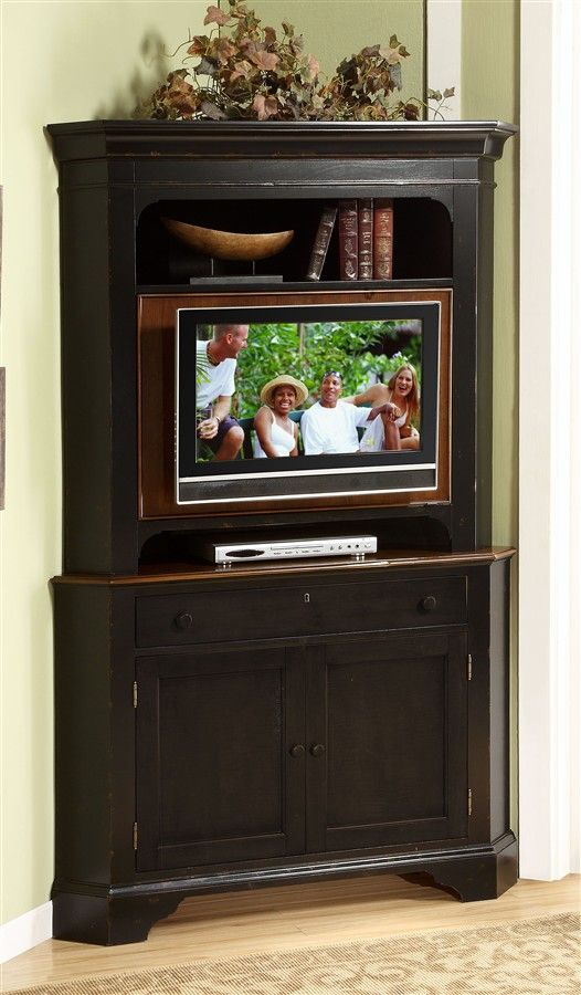 wood alder hutch stand home free clay tv hardy inch corner with cabinet black garden product