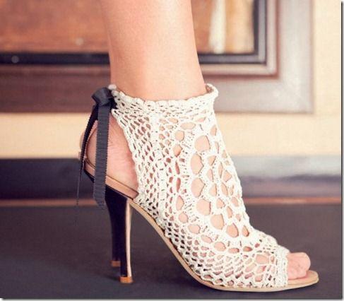 Nicole Brundage Crochet pumps