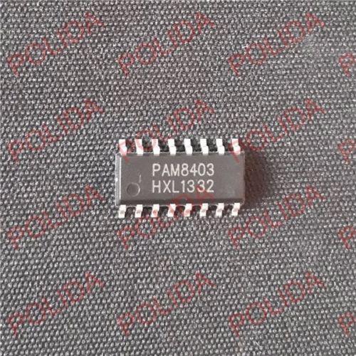 10PCS Audio Amplifier IC POWERANALOG/DIODES SOP-16 PAM8403
