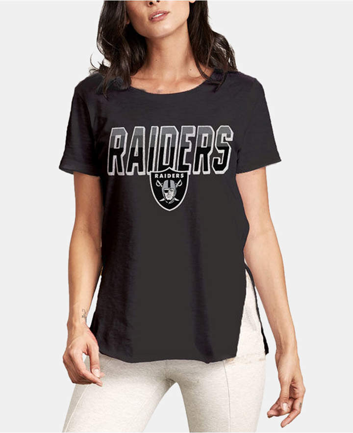 Cheap Authentic Nfl Apparel Women Oakland Raiders Short Sleeve T Shirt in