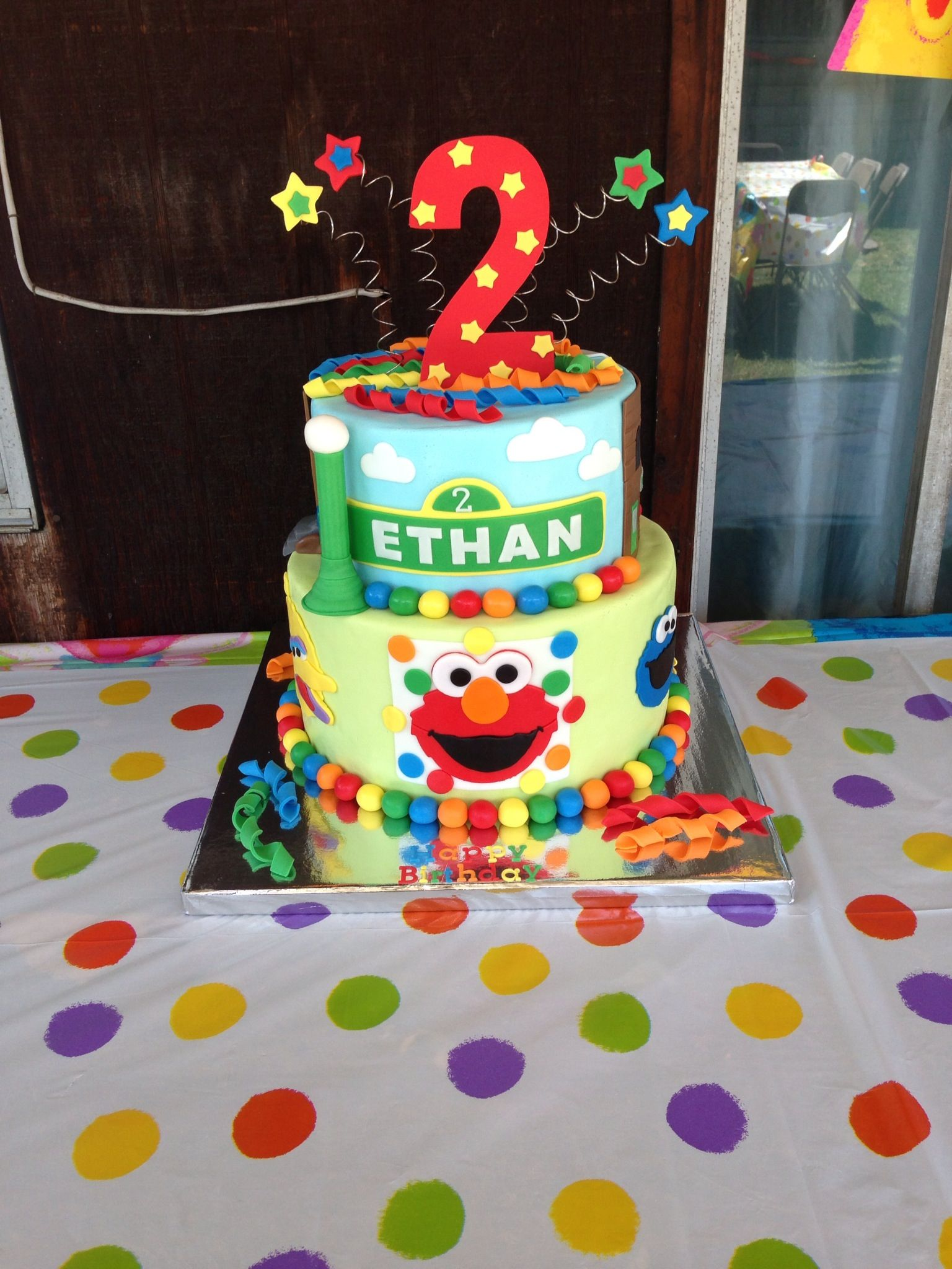 Cool Sesame Street Birthday Cake With Images Sesame Street Birthday Personalised Birthday Cards Paralily Jamesorg
