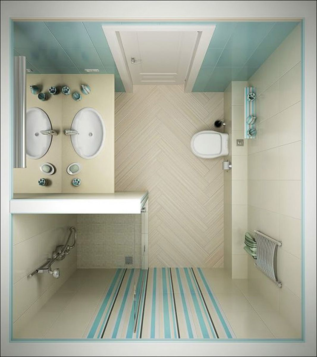 5 Phenomenal Bathroom Tile Combinations: Bathroom Ideas For Small Space Shower Laminated Wood Floor