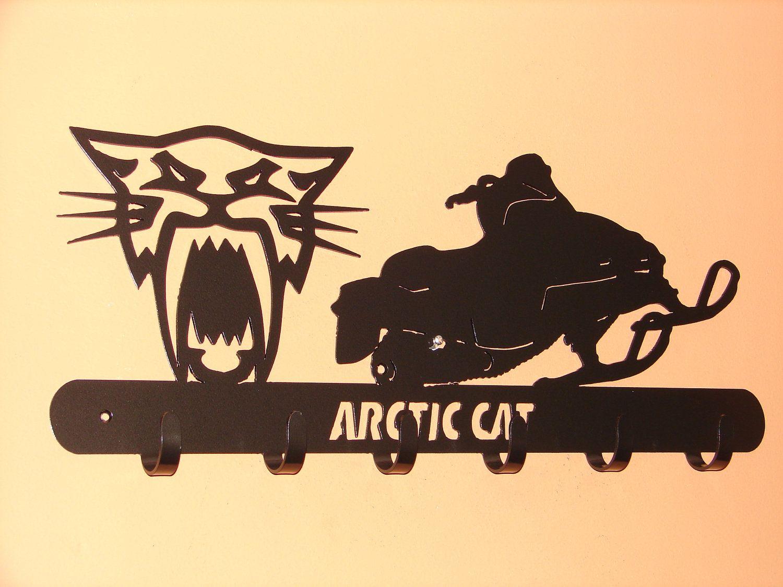 Arctic Cat Snowmobile Coat Rack Robe Hook Metal Cabin Sled
