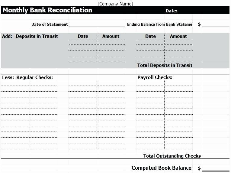 Cam reconciliation spreadsheet best of free bank