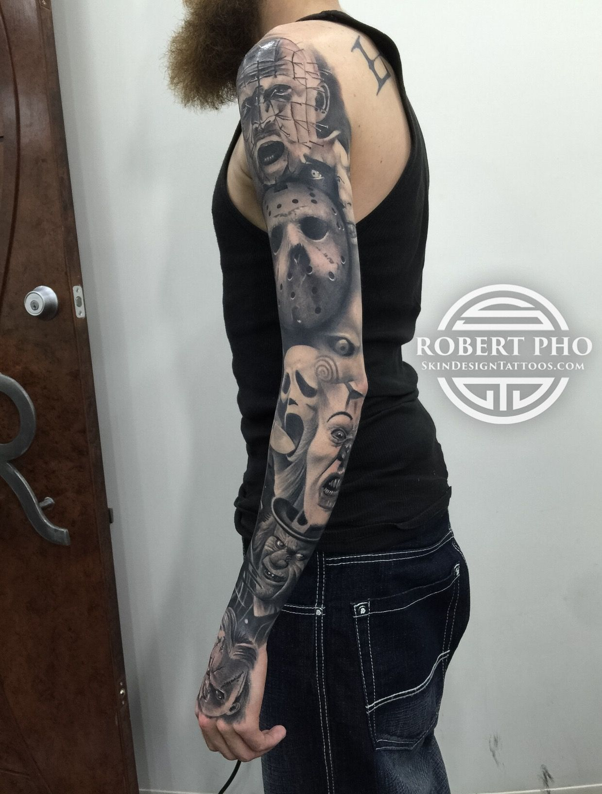 Horror Sleeve Tattoo Car Tattoos Michael Myers Tattoo Movie Tattoos