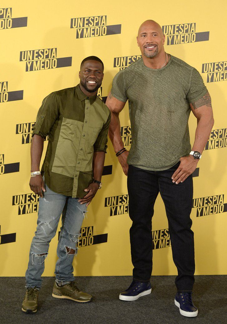 Dwayne Johnson And Kevin Hart Have An Absolute Ball While