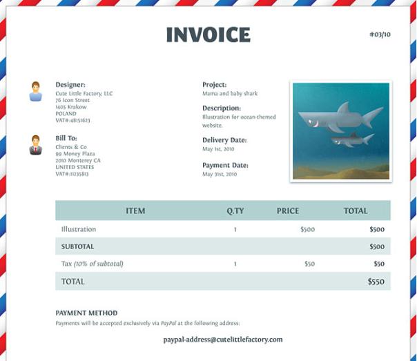 10 Desain Faktur Invoice Pilihan 2015 Editorial Invoice