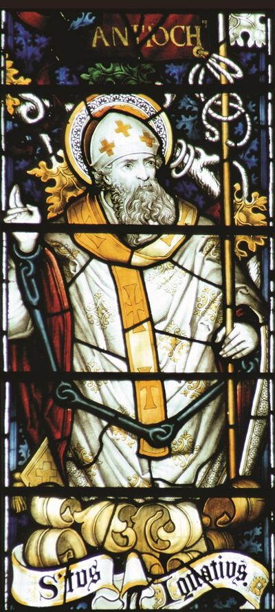 St. Ignatius of Antioch was a Bishop of Antioch and a notable martyr of the early Church.  He died by being thrown to the wild beasts in the Roman Circus. Feast day: October 17.