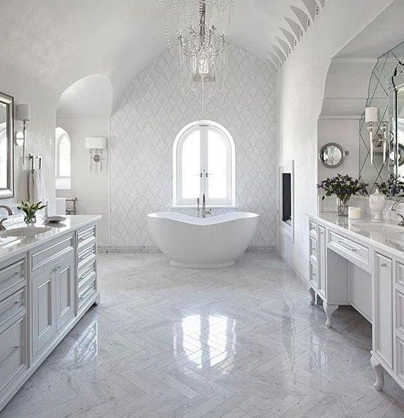 Bathroom Inspire Me Home Design With Images White Master Bathroom Dream Bathrooms Mediterranean Bathroom