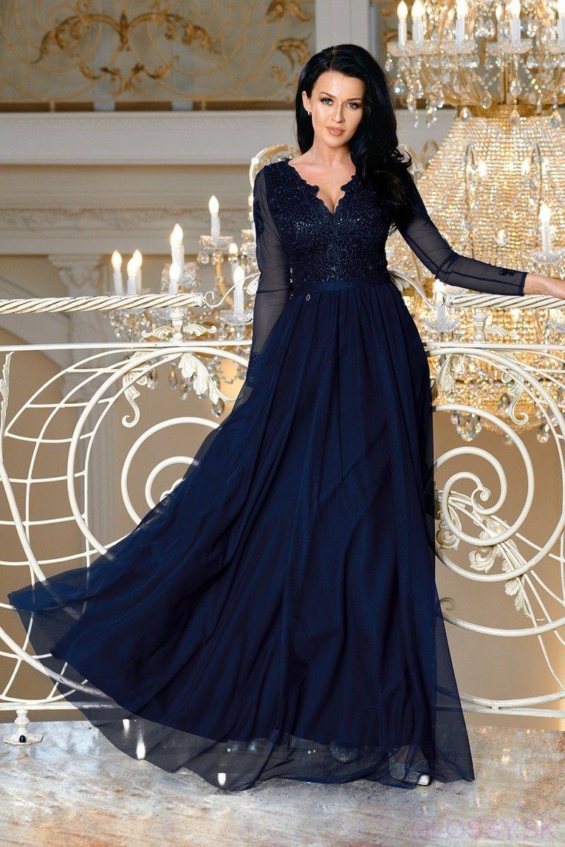 0becac5aa9b4 Očarujúce dhé tmavomodré šaty stvorené na ples