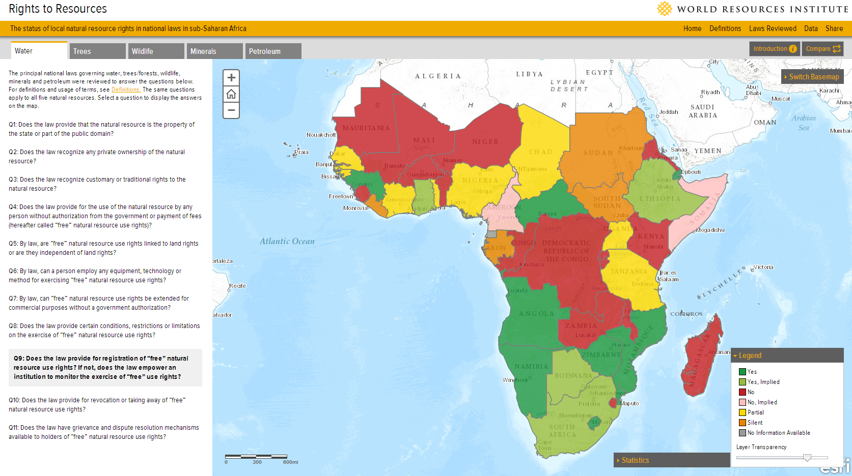 New Map Documents Natural Resource Rights In Sub Saharan