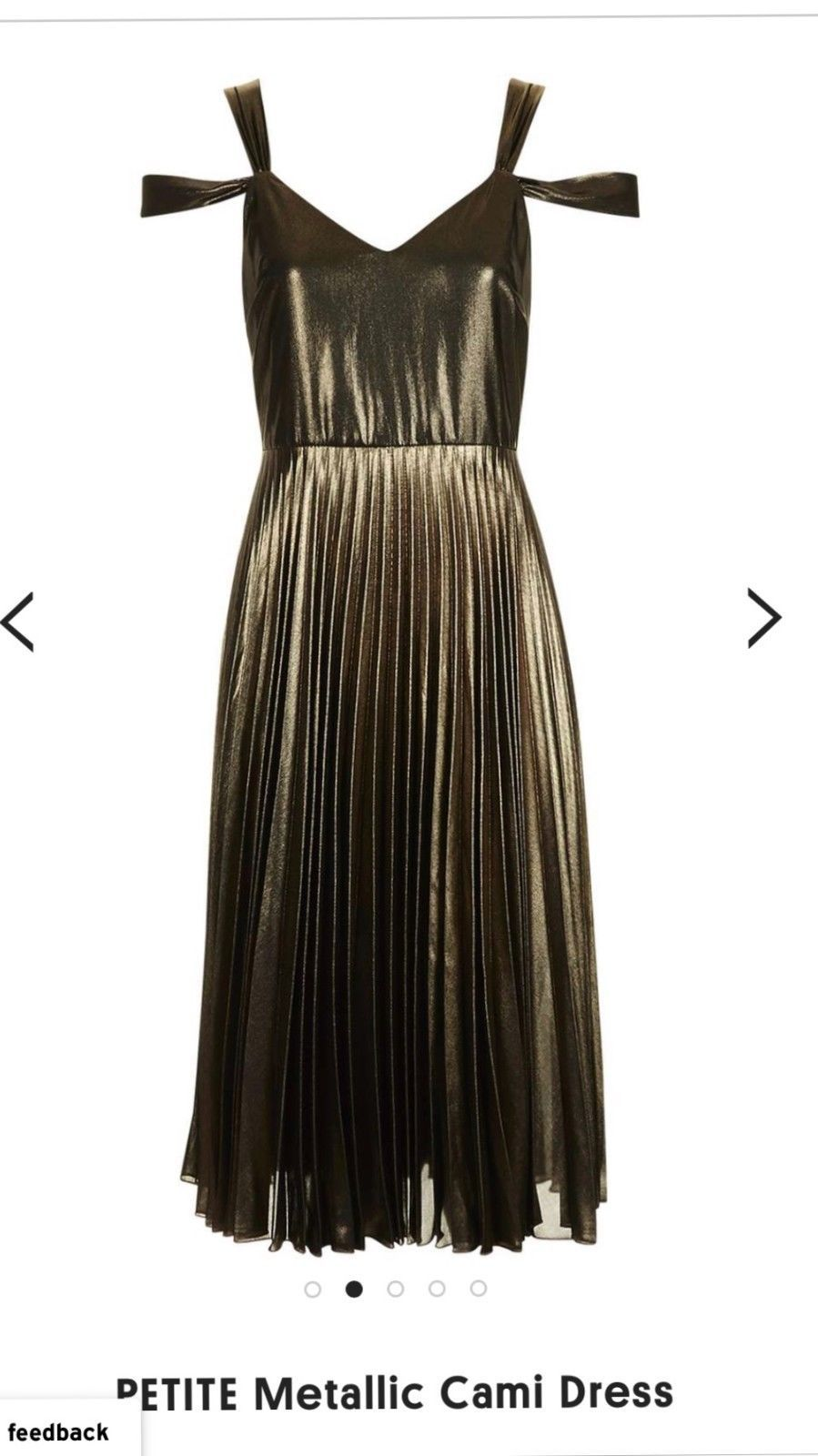 Topshop Dresses | Rose Gold Dress