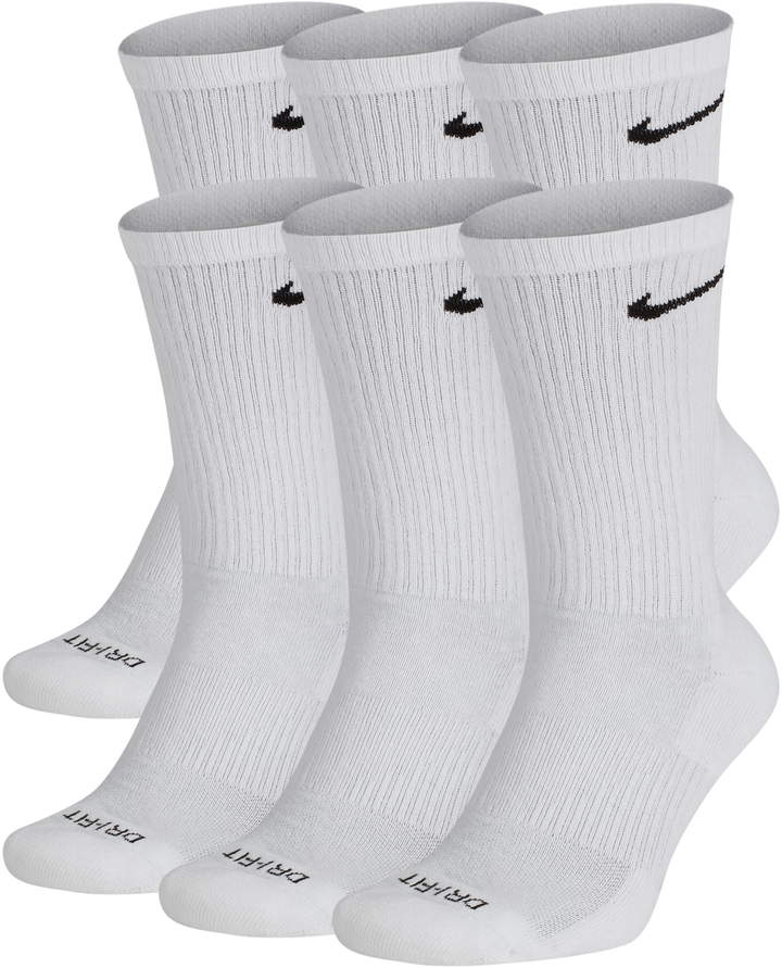 separation shoes f9091 93d75 Nike Dry 6-Pack Everyday Plus Cushion Crew Training Socks