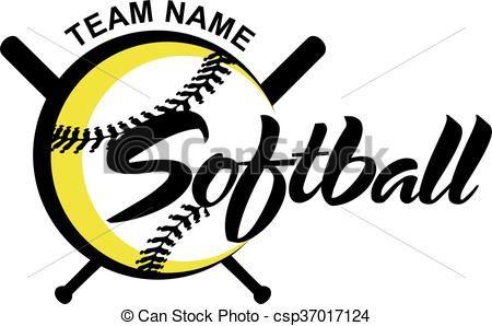 vector softball stock illustration royalty free illustrations rh pinterest co uk softball logos images softball logos for girls