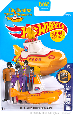Hot Wheels Hobbys Hot Wheels The Beatles Yellow Submarine Series