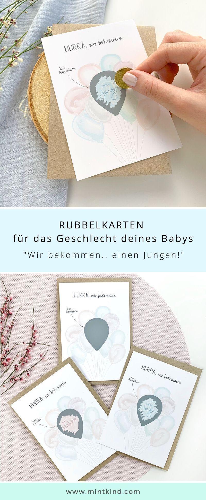 Baby Geschlecht enthüllen Baby JUNGE Geschlecht Rubbelkarte Schwangerschaft