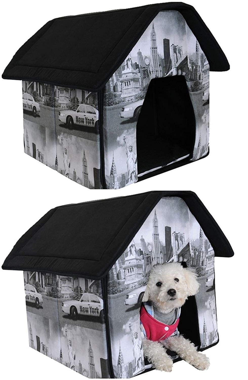 1 Set Perfectly Popular Indoor Pet House Dog Tent Portable Bed Soft And Warm Fabric Style New York See This Great Product Dog Tent Indoor Pets Warm Dog House