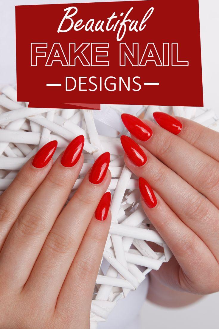 Beautiful Fake Nail Designs -   Fabulous nails, Manicure and Beauty ...