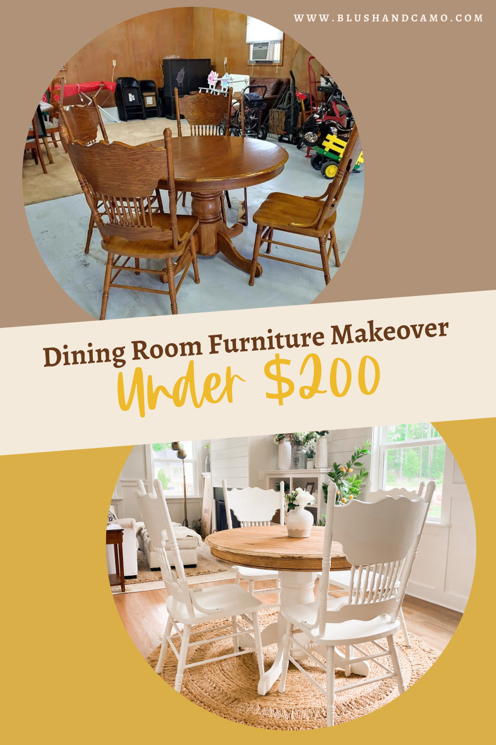 Dining Room Furniture Makeover Under 200 Blush Camo In 2020 Dining Room Furniture Makeover Dining Room Furniture Furniture Makeover