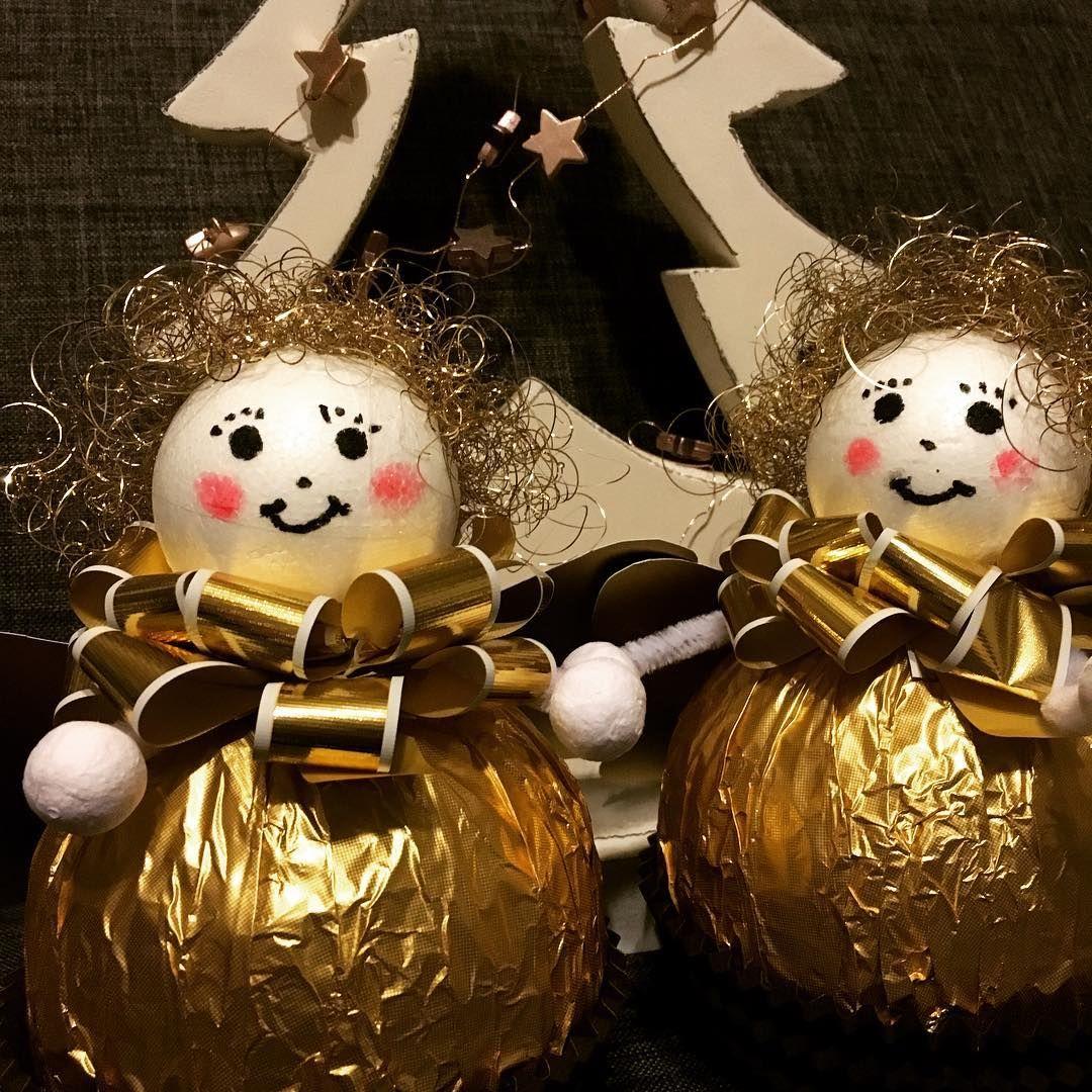 Ferrero Rocher Engel Aus Großen Rocher Kugeln Engel