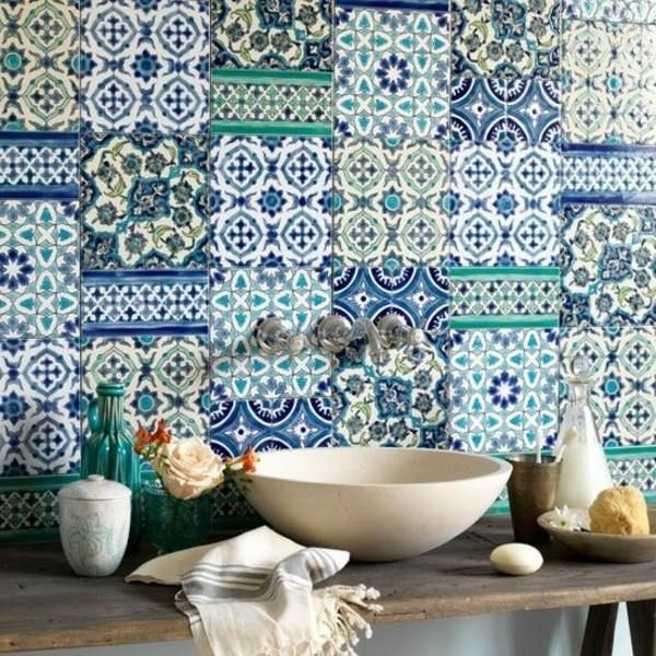 Traditional spanish   blue decor   tile decal   kitchen tiles ...