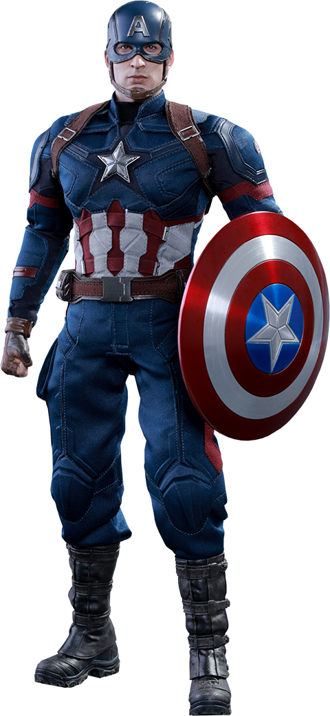 Captain America Civil War  Captain America figure by Hot Toys  055635f26bc3