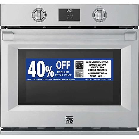 Kenmore Pro 41153 30 Electric Self Clean Single Wall Oven Stainless Steel Stainless Steel Oven Kenmore Kenmore Pro