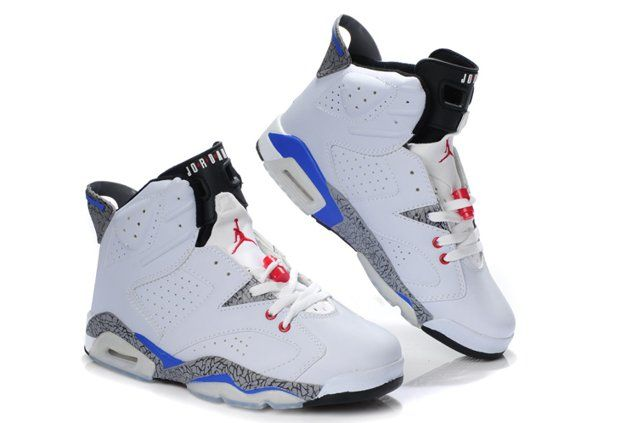 on sale a3269 7efce Latest Jordan Shoes   2012 New Air Jordan 6 VI Retro Mens Shoes Leopard  White Black Blue 01 .