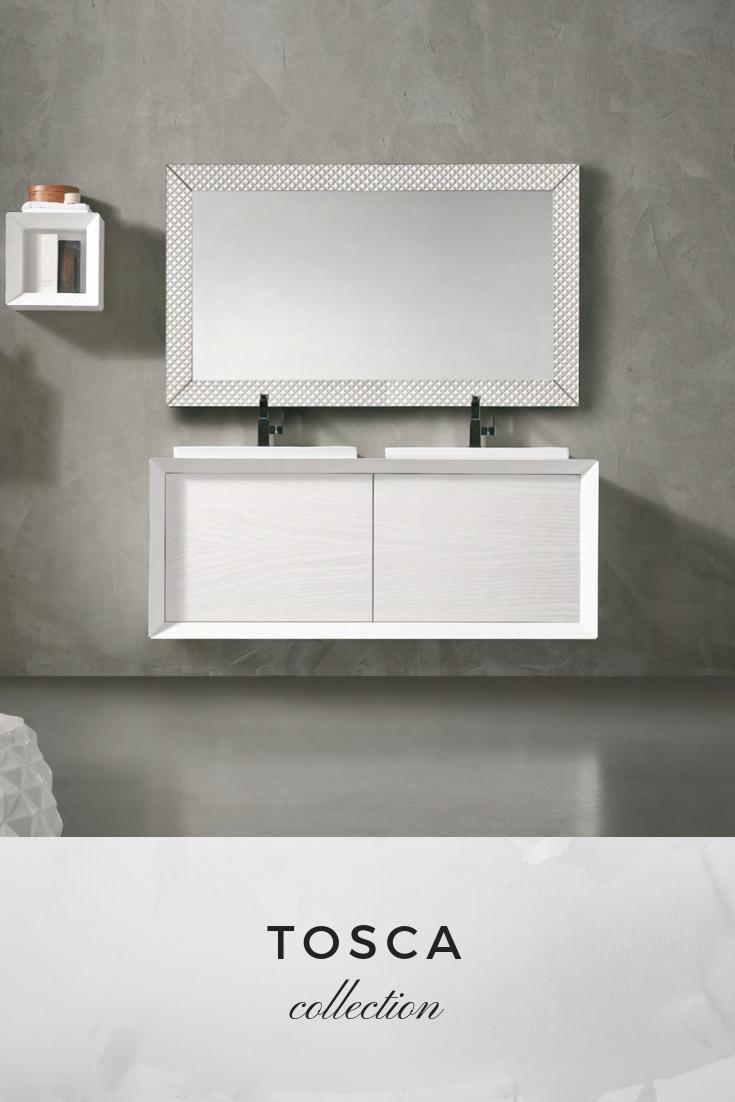 Tosca Collection In Weis Nostalgie Badmobel Retro Modern Design Badezimmer Vintage Moderndesignbathrooms Modernes Design Modern Badmobel Landhaus