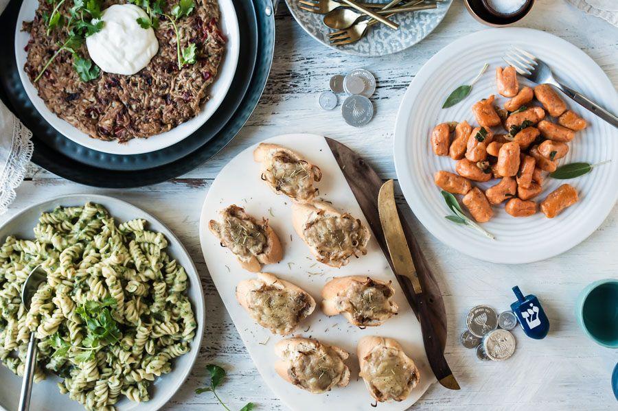 Dairy, Pasta, Chanukah, Hanukkah, Hanukka, Chanuka, holidays, winter, family dinner menu,