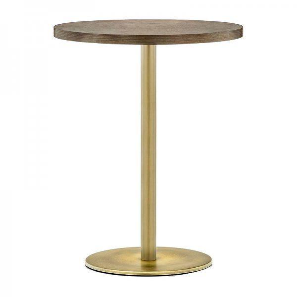 Hugo Round D1 Slim Table Base Antique Brass Steel Table Base
